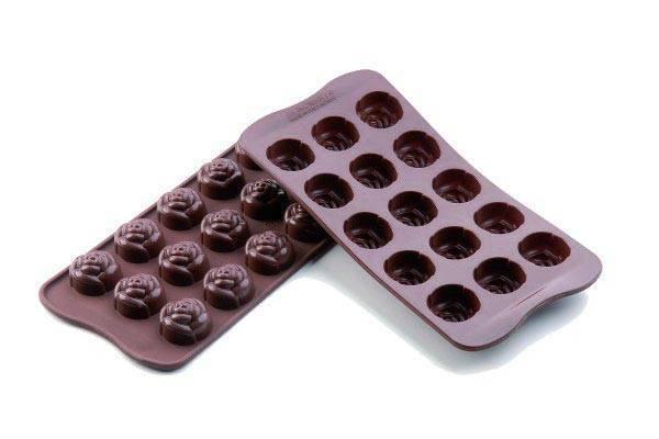 Silikonová forma na čokoládu – růžičky Silikomart