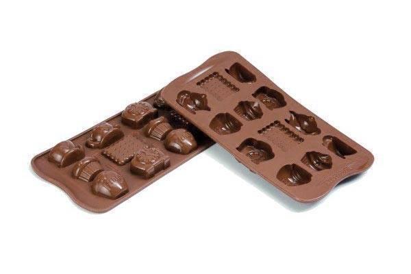 Silikonová forma na čokoládu – čaj o páté Silikomart
