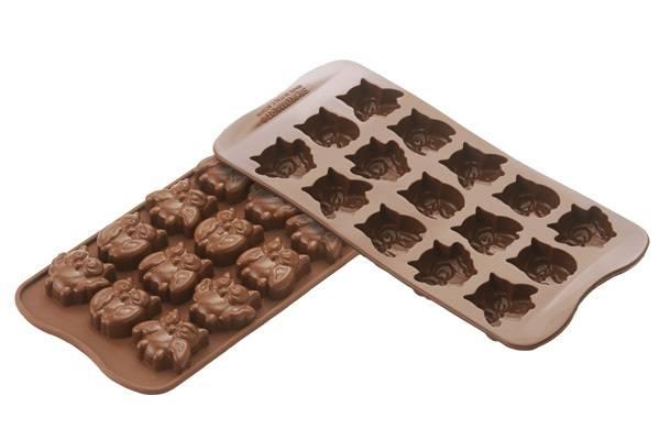 Silikonová forma na čokoládu – sovičky Silikomart