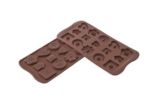 Silikonová forma na čokoládu – knoflíčky Silikomart
