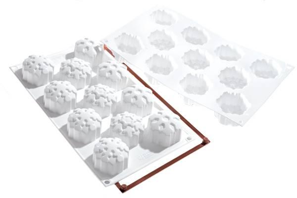 Silikonová forma na dortíky – sněhové vločky Silikomart