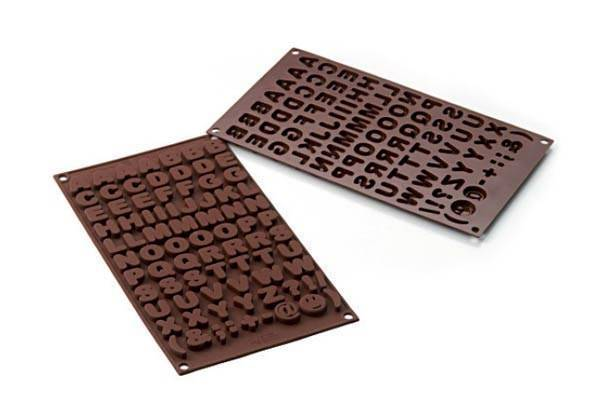 Silikonová forma na čokoládu – abeceda Silikomart