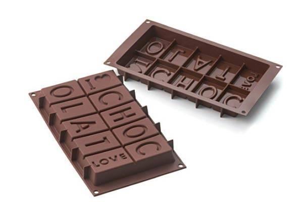 Silikonová forma na čokoládu I LOVE CHOCOLATE Silikomart
