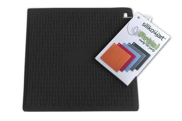 Silikonová podložka pod nádobí – černá Silikomart