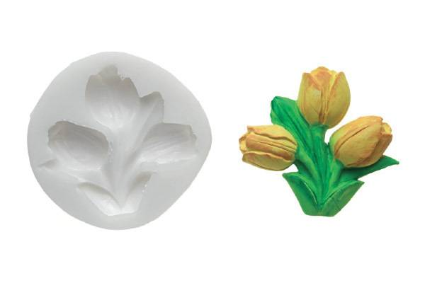 Silikonová forma na fondán- tulipány Silikomart
