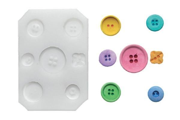 Silikonová forma na fondán- knoflíky Silikomart