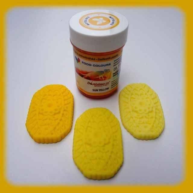 Gelová barva zářivě žlutá 35g Food Colours