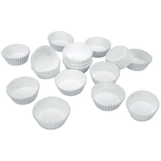 Papírové pečicí formičky - bílé, mini provedení Stadter