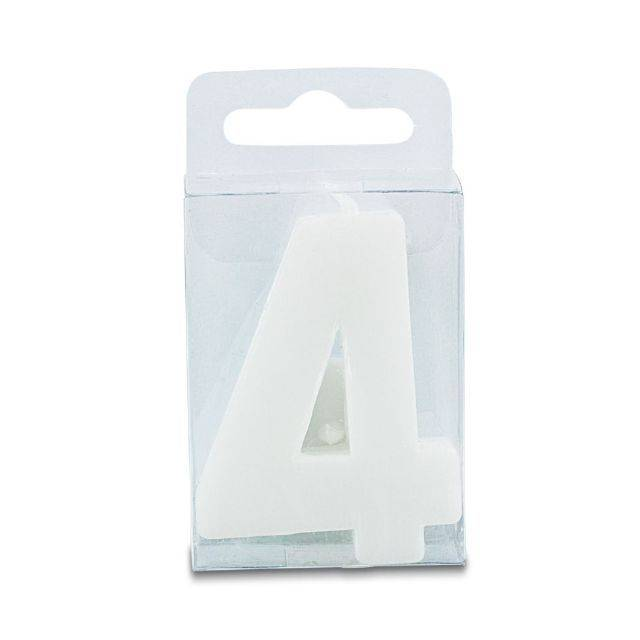 Svíčka ve tvaru číslice - mini, bílá Stadter