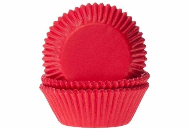 Papírový košíček na muffiny červený 50ks House of Marie