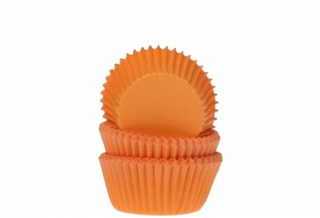 Košíček na muffiny oranžový 50ks House of Marie