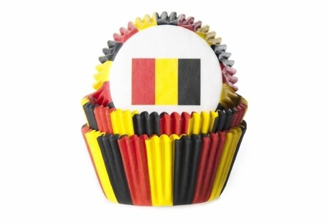 Košíček na muffiny vlajka Belgie 50ks House of Marie