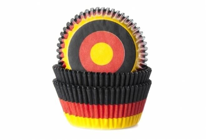 Papírový košíček na muffiny vlajka Německo 50ks House of Marie