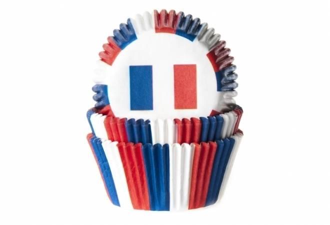 Papírový košíček na muffiny vlajka Francie 50ks House of Marie