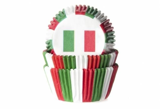 Košíček na muffiny vlajka Itálie 50ks House of Marie