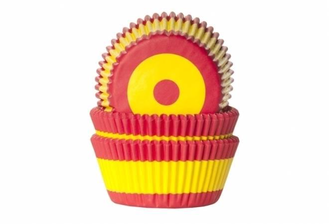 Košíček na muffiny vlajka Španělsko 50ks House of Marie