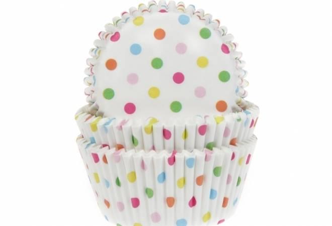 Papírový košíček na muffiny puntíkovaný 50ks House of Marie