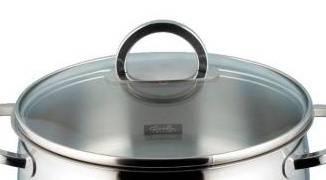 Poklice pro varné nádobí Selection- O 16 cm, sklo-nerez - - Fissler