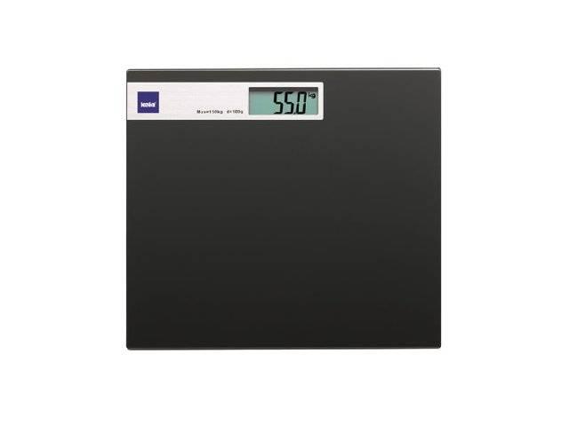 Fotografie Osobní digitální skleněná váha do 150Kg černá KL-21298 - Kela