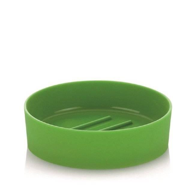 Miska na mýdlo zelená kulatá - Kela