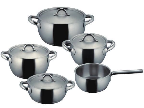 Sada nádobí nerezová - 5 dílná - Fiamma® Fissler - Fissler