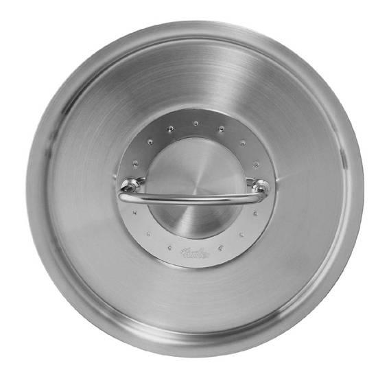Poklice pro varné nádobí Profi Colection®- O 20 cm, nerez - - Fissler