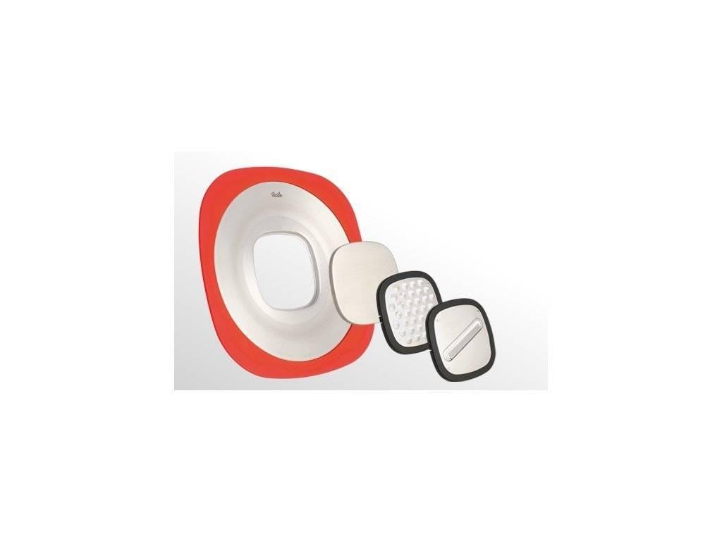 Universální struhadlo svíkem 30 cm, nerez / silikon – Multi Talent Q! - Fissler