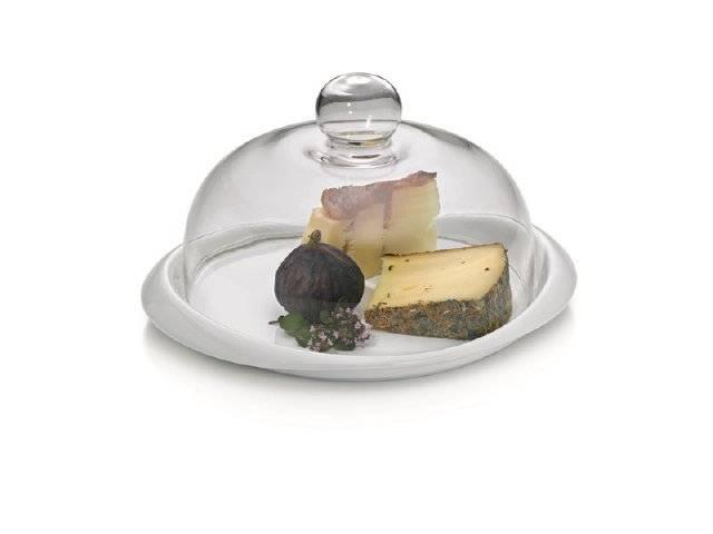 Porcelánový talíř s poklicí - PETIT 27x22x13cm - Kela