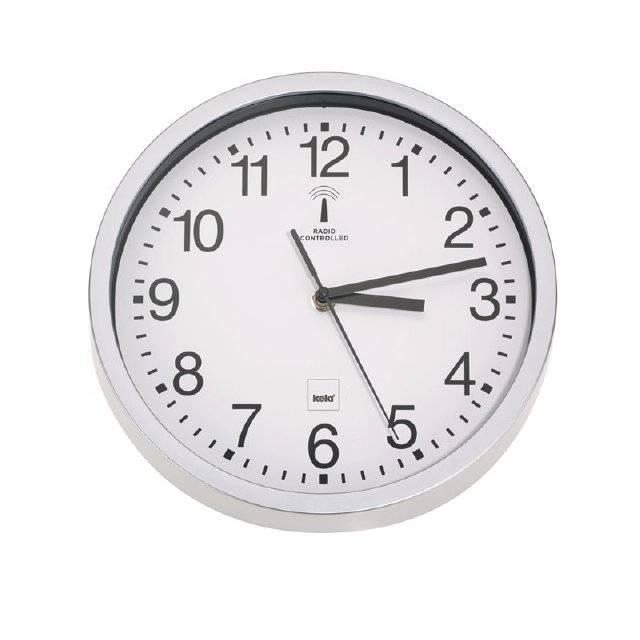 Rádiem řízené hodiny bílé KL-11258 - BILBAO - Kela