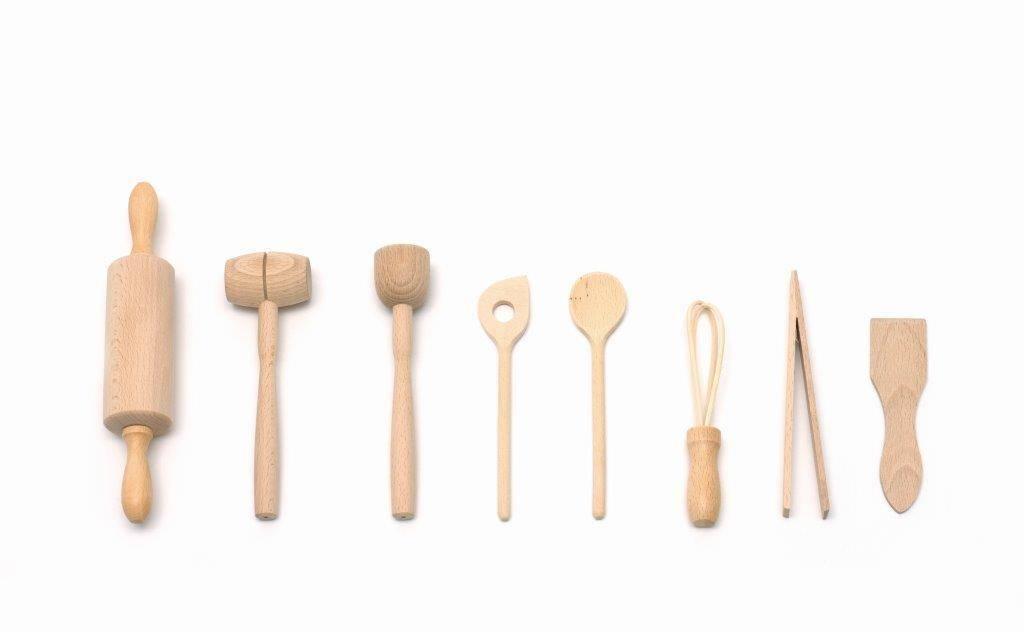 Pekařská souprava - 9 ks - bukové dřevo - Klawe