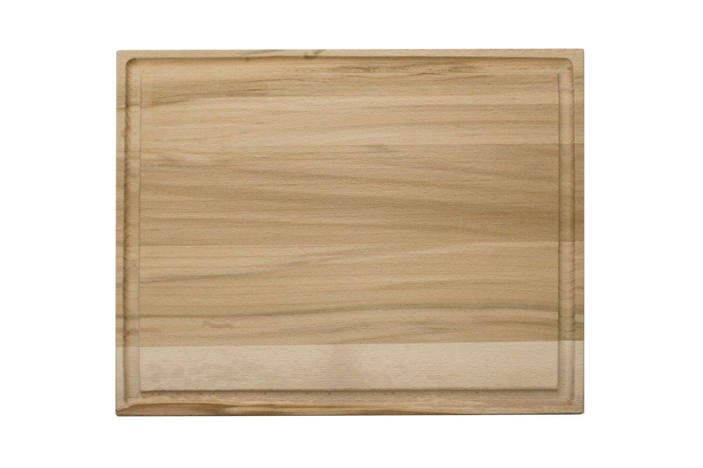 Deska na maso s drážkou, 350 x 270 x 20 mm - Dřevovýroba Otradov