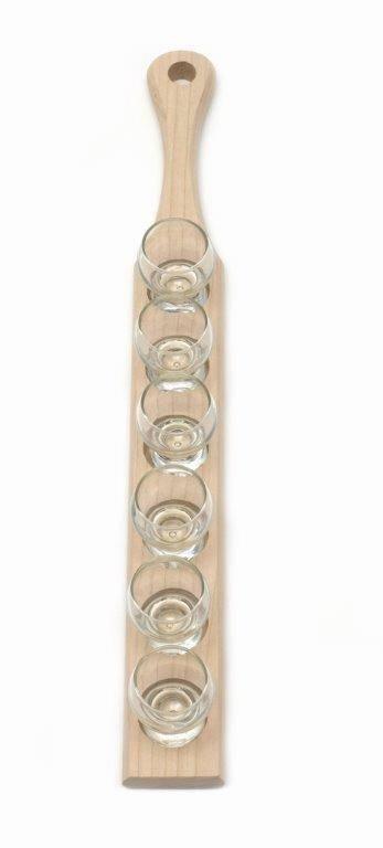 Podnos pro 6 skleniček, jasanové dřevo - Klawe