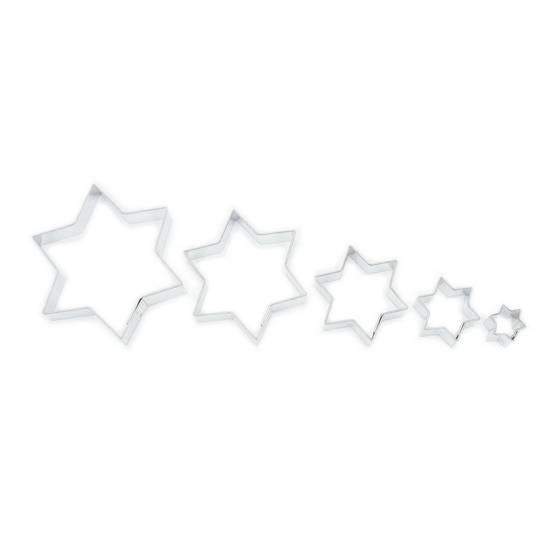 Vykrajovátka hvězdičky hladké 5ks - Smolík