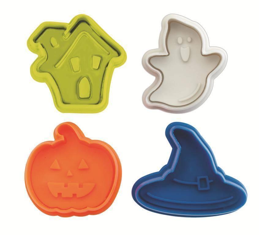 Plastová vykrajovátka Halloween set – 4ks - Ibili