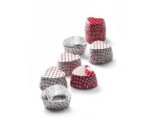 Cukrářské košíčky na čokoládu- srdíčka 36ks - Ibili