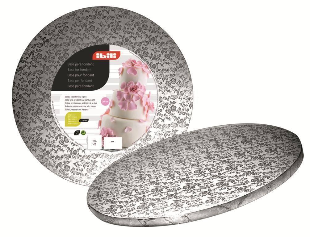 Podložka pod dort kruhová stříbrná 35cm - Ibili