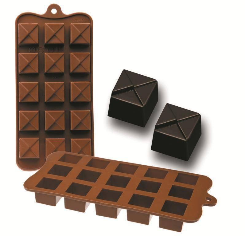 Formičky na čokoládu kostičky 10,5x21cm - Ibili