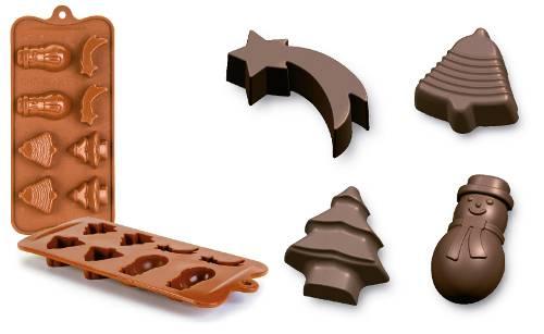 Forma na čokoládu vánoce - Ibili