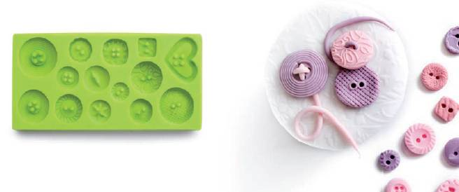 3D forma na fondant knoflíky - Ibili