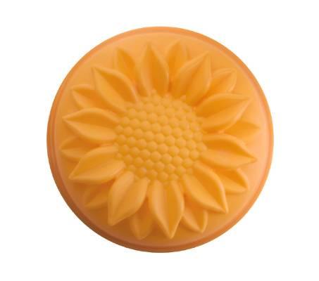 Silikonová forma na pečení slunečnice - oranžová - Ibili