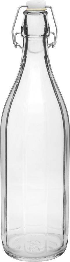 Skleněná láhev s klipem 1l - BIOWIN