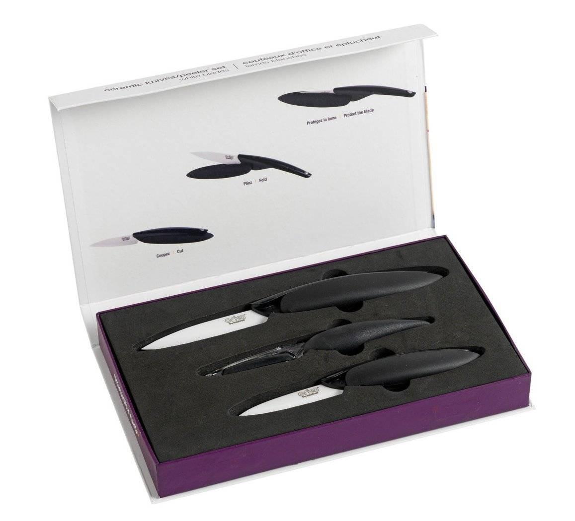 Keramické nože a škrabka Mastrad bílá - Mastrad
