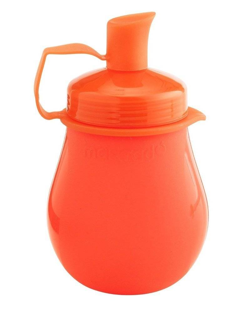 Dětská silikonová láhev Mastrad červená 130ml - Mastrad