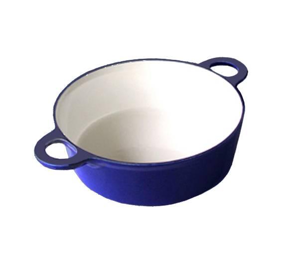 Hrnec - 18,5 cm - litina/smalt - Smalt
