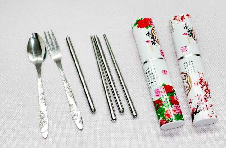 Hůlky a příbor na sushi - cestovní -