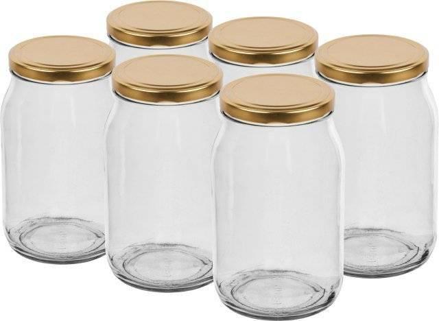 Sklenice zavařovací s víčkem 900 ml – 6 ks - BIOWIN