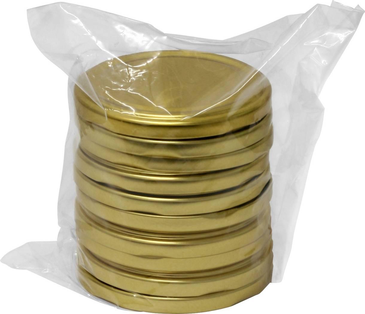 Víčka 82/6 - 10ks zlaté - BIOWIN