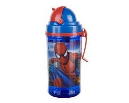Spiderman láhev s brčkem 350ml - BANQUET
