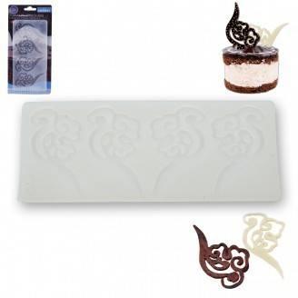 Forma na ozdoby z čokolády, silikon - Orion