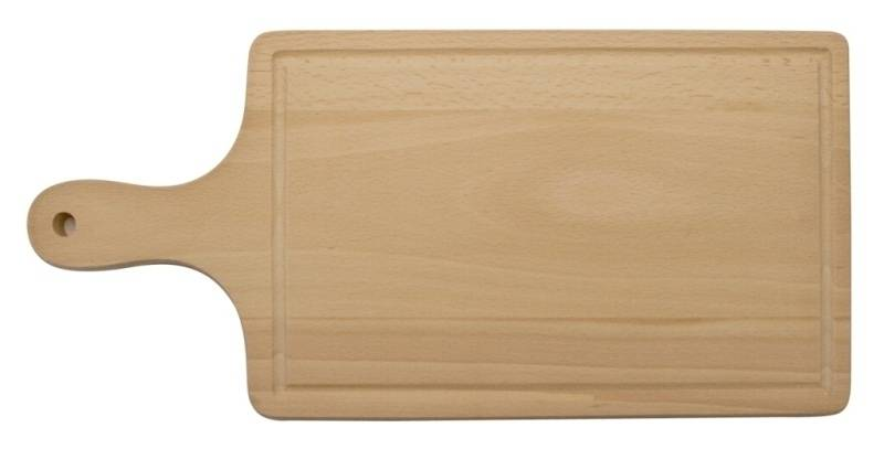 Prkénko s rukojetí a s drážkou, 435 x 195 x 16 mm - Dřevovýroba Otradov
